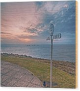 Lands End Cornwall Wood Print
