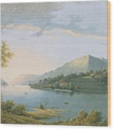 Landscape Along The Rhine Wood Print