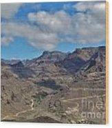 Landscape Amazing Canarian Colors Mountains Wood Print