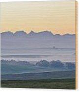 Landscape At Dawn Wood Print