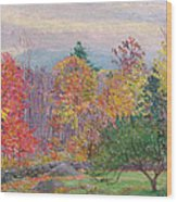 Landscape At Hancock In New Hampshire Wood Print