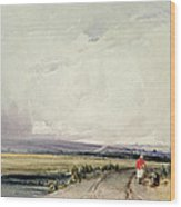 Landscape In Normandy, Traditionally Wood Print