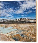 Landscape In North Iceland Leirhnjukur Wood Print by Matthias Hauser