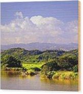 Landscape In Puerto Rico. Wood Print