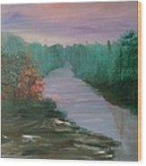 River Dreamscape Wood Print