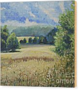 Landscape Near Russian Border Wood Print