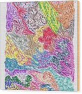 Landscape Of Color Wood Print
