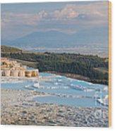 Landscape Of Pamukkale Wood Print
