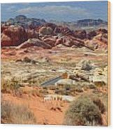 Landscape Of Valley Of Fire State Park Wood Print