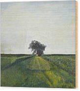 Landscape Painting-lone Tree-barbara J. Hart-oil On Canvas-24 Wood Print