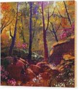 Landscape Painting Of Beautiful Autumn Wood Print