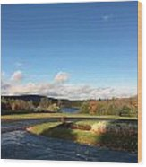 Landscape Skyview Early Morning Poconos Pa Usa America Travel Tour Vacation Peaceful Wood Print