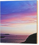 Landscape - Sunset Wood Print