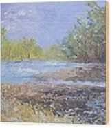 Landscape Whit River Wood Print
