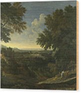 Landscape With Abraham And Isaac Wood Print