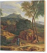 Landscape With Conopion Carrying Wood Print