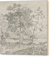 Landscape With Riders, Jan Palthe Wood Print