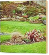 Landscaped Garden Wood Print