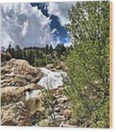 Alluvial Fan Colorado Wood Print