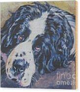 Landseer Newfoundland Dog Wood Print