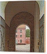 Landskrona Citadel Entrance Wood Print