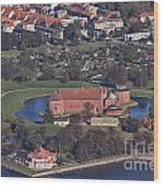 Landskrona Citadel Photographed From The Air Wood Print