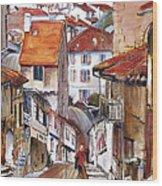 Laneways Of Nerac Wood Print