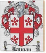 Langan Coat Of Arms Irish Wood Print