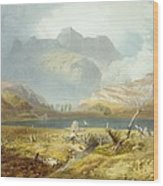 Langdale Pikes, From The English Lake Wood Print
