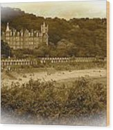 Langland Bay Gower Wales Wood Print