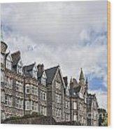 Langland Bay Manor Wood Print