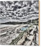 Langland Bay Painterly Wood Print