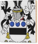 Langley Coat Of Arms Irish Wood Print