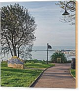 Langmoor-lister Gardens -- Lyme Regis Wood Print