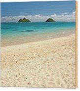 Lanikai Beach 2 - Oahu Hawaii Wood Print
