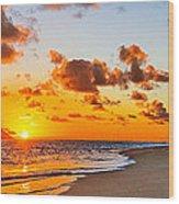 Lanikai Beach Orange Sunrise 3 To 1 Aspect Ratio Wood Print