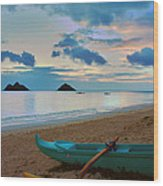 Lanikai Beach Sunrise 6 - Kailua Oahu Hawaii Wood Print