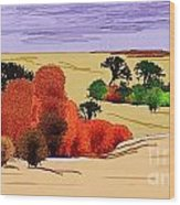 Lanscape 102 Wood Print