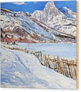 Valbona Snow - Margjeka Hotel Wood Print