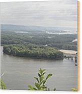 Lansing Bridge Panoramic Wood Print