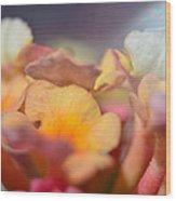 Lantana Macro Iv Wood Print