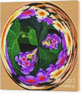 Lantana Orb Wood Print