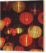 Lantern Shop At Night, Hoi An, Vietnam Wood Print