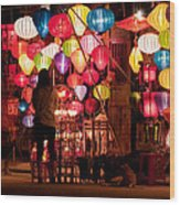 Lantern Stall 01 Wood Print