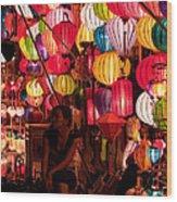 Lantern Stall 02 Wood Print