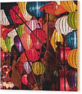 Lantern Stall 03 Wood Print