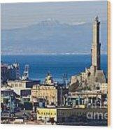 Lanterna - Lighthouse In Genova Wood Print