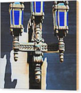 Lanterns Out Of The Blue Wood Print