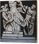 Laocoon And The Snake Wood Print