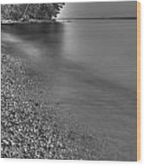 Lapping Waters On The Shore Wood Print